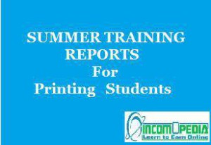 Download training reports of printing companies