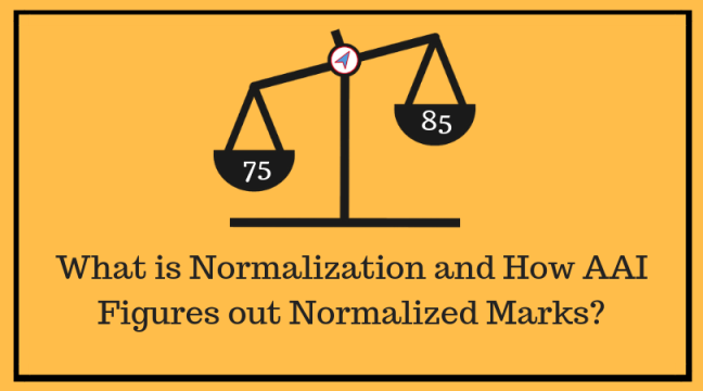 Normalization and aai method to calculate normalized marks
