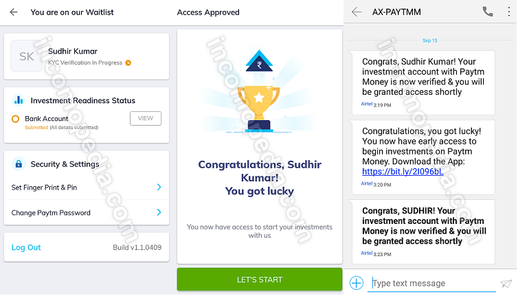 Paytm Money App verified