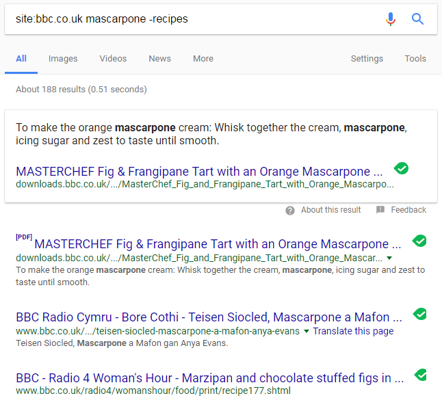 combining more than 1 google search tricks
