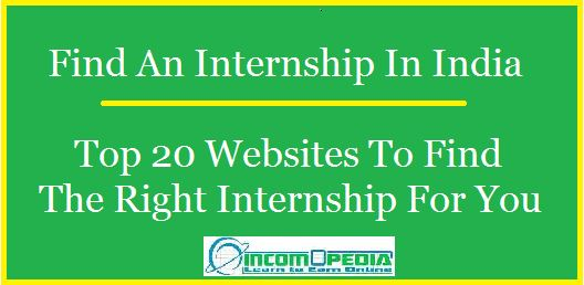 sites to find internship in india
