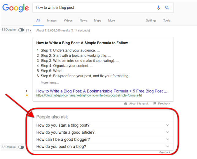 people also ask example google search
