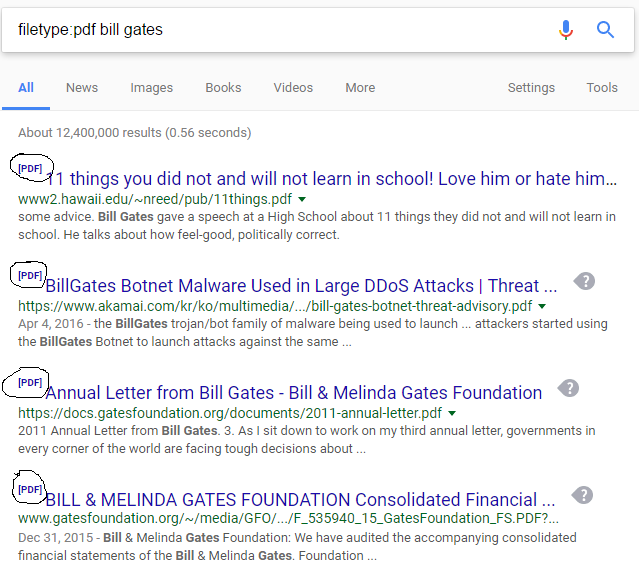 search only for a specific file format in google